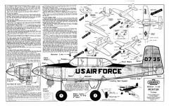 T-34 Mentor model airplane plan