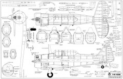 T-6F Texan 62in model airplane plan