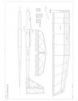 T-Dancer Model 1 model airplane plan