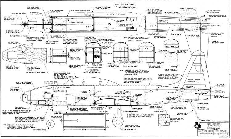 T33 p1 model airplane plan