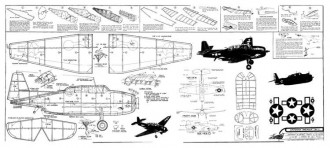 TBF-1 Avenger model airplane plan