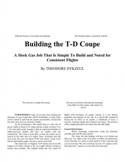 TDCoupe model airplane plan
