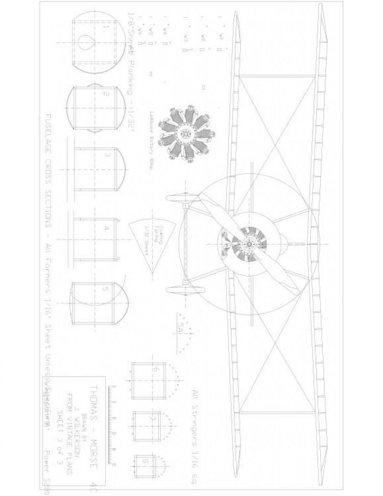TM3 Model 1 model airplane plan