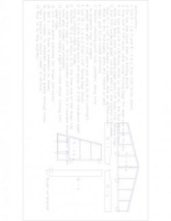 TR3 Model 1 model airplane plan