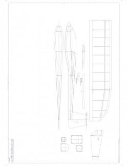 T TailA Model 1 model airplane plan