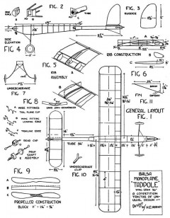 Tadpole 3 model airplane plan