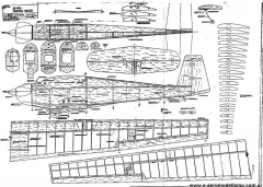 Tandem Falk model airplane plan