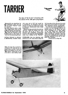 Tarrier model airplane plan