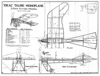 Taube model airplane plan
