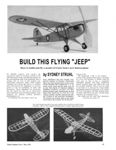 TaylorCraft L-2B model airplane plan