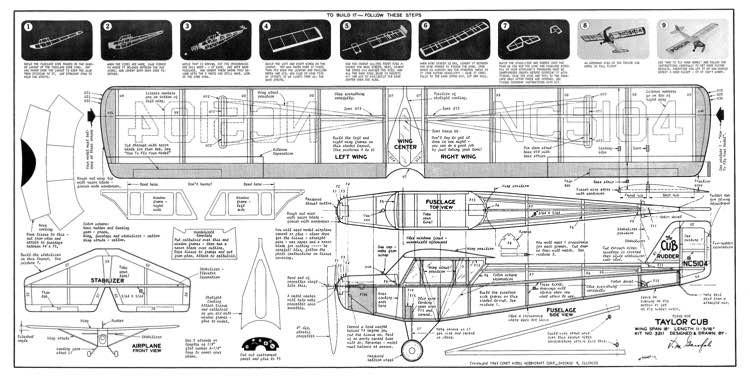 Taylor Cub model airplane plan