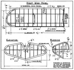 Taylor Young p2 model airplane plan
