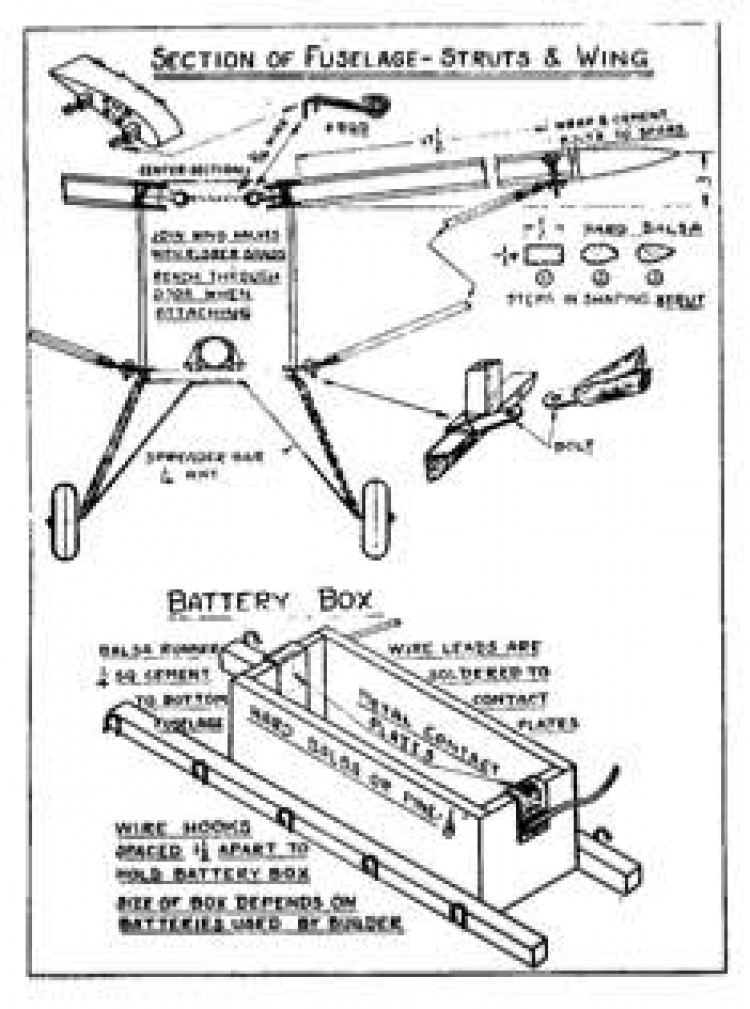 Taylor Young p3 model airplane plan