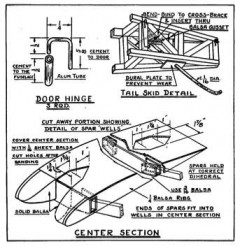 Taylor Young p5 model airplane plan