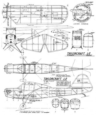 Taylorcraft L2 model airplane plan