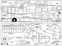 Taylorcraft O-57 model airplane plan