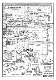 Teamster CL model airplane plan
