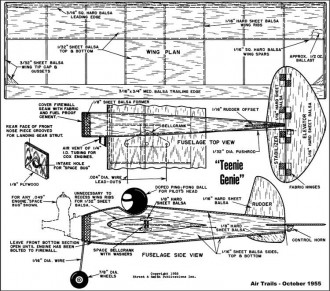 Teenie Genie 16in model airplane plan