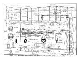 Temco TT1 model airplane plan