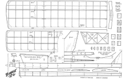 Tempest 370 model airplane plan