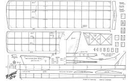 Tempest 370 model airplane plan