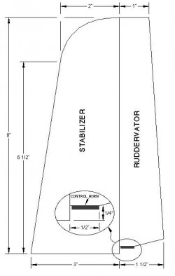 Terminator p2 model airplane plan