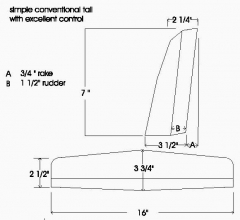 Terminator p6 model airplane plan