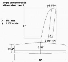 Terminator p6 model airplane plan
