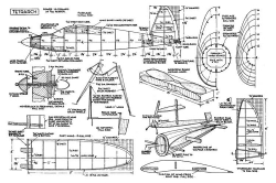 Tetrarch model airplane plan
