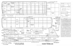 The Texan model airplane plan
