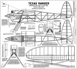 Texas Ranger model airplane plan