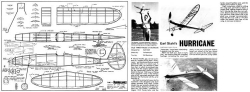 The Hurricane model airplane plan