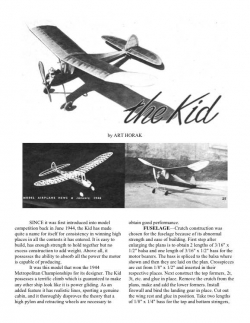 The Kid model airplane plan
