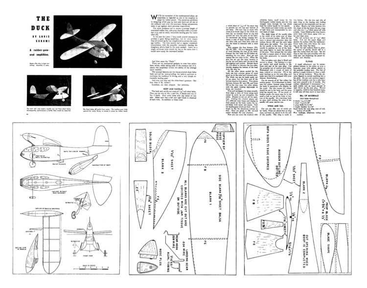 Duck model airplane plan