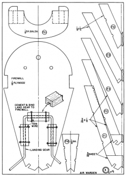 The Flying Air Warden p3 model airplane plan