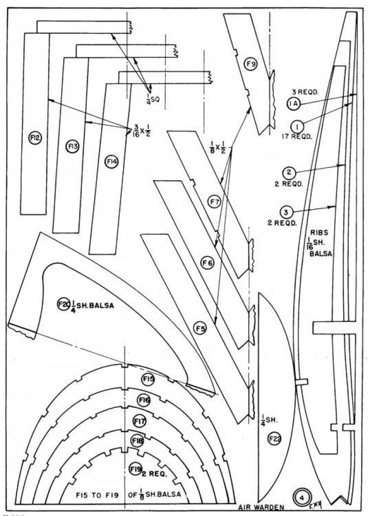The Flying Air Warden p4 model airplane plan