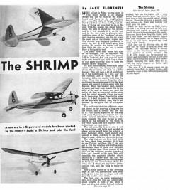 The Shrimp model airplane plan