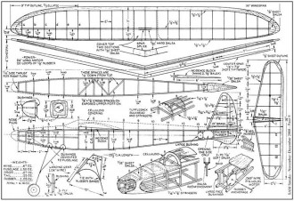 Thermal Hunter Mark II model airplane plan
