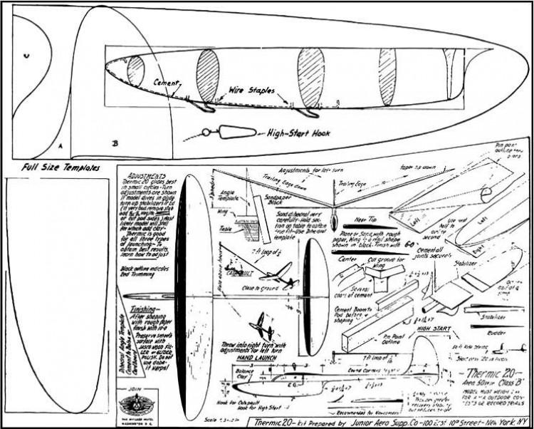 Thermic 20 model airplane plan