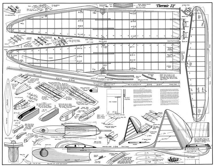 Thermic 72 model airplane plan