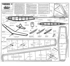 Thermic C Jetco model airplane plan