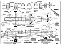 Thunderbird Veco CL model airplane plan