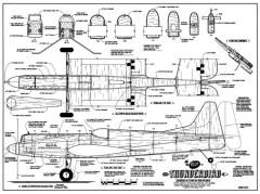 Thunderbird Veco CL model airplane plan