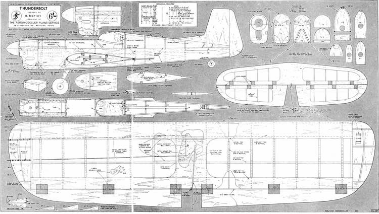 Thunderbolt model airplane plan