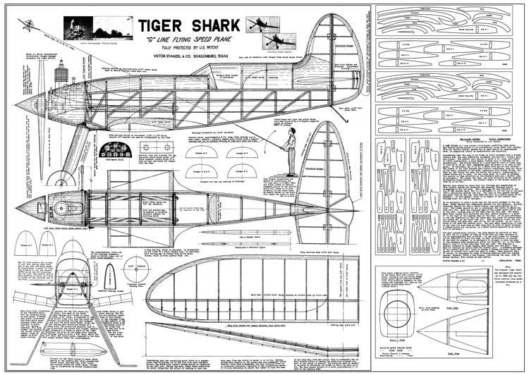 Tiger Shark model airplane plan