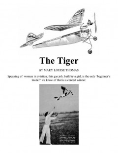 Tiger model airplane plan