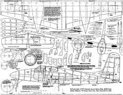 TigerCat model airplane plan
