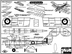 Tiger Moth 20in model airplane plan