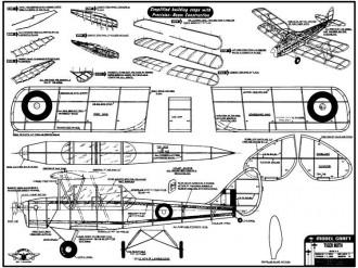 Tiger Moth 20in model airplane plan