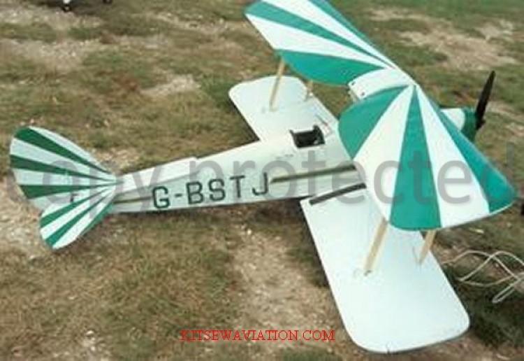 De Havilland DH.82A Tiger Moth model airplane plan